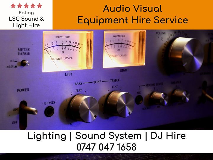 Audio Visual Equipment Hire Service - LSC Sound and Light Hire
