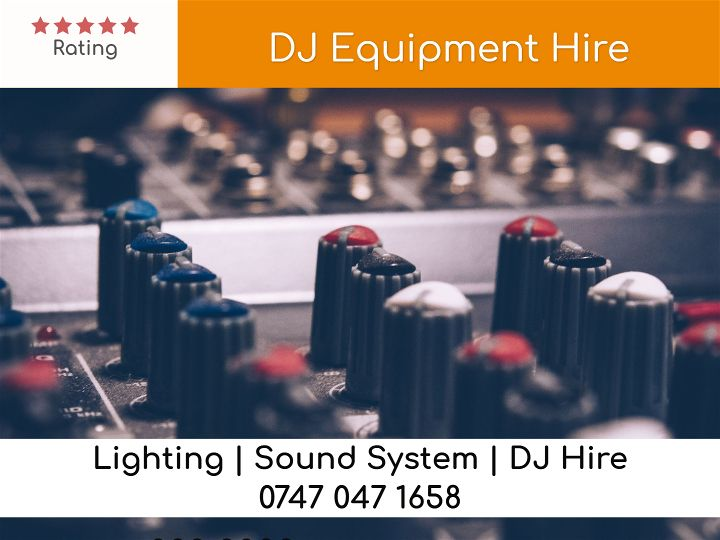DJ Equipment Hire London - LSC Sound and Light Hire