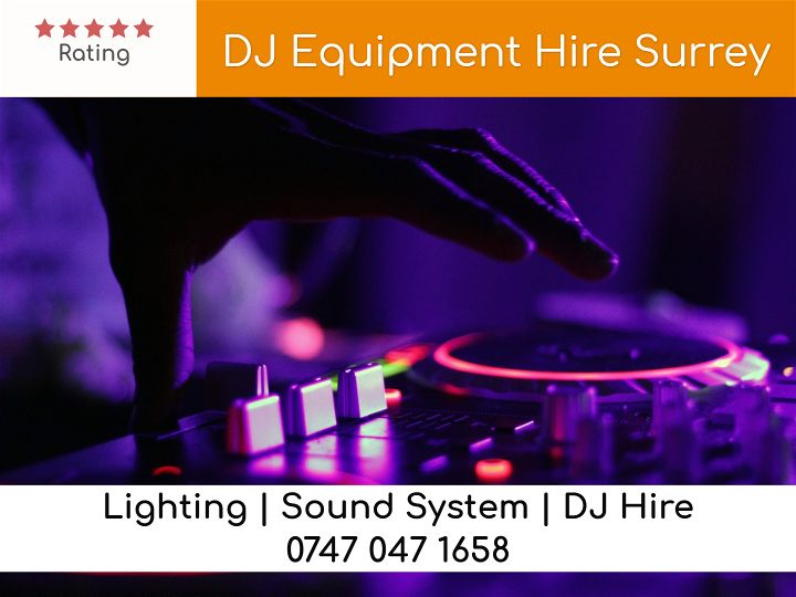 DJ Equipment Hire Surrey - LSC Sound and Light Hire