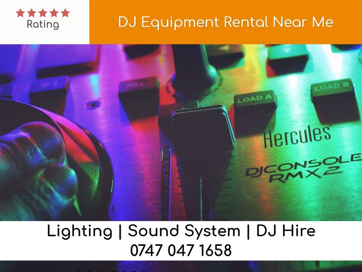 DJ Equipment Rental Near Me - LSC Sound and Light Hire
