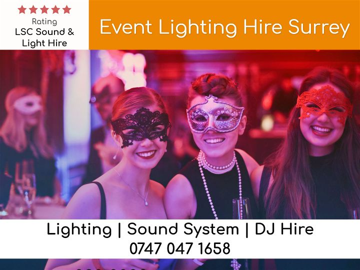 Event Lighting Hire Surrey - LSC Sound and Light Hire