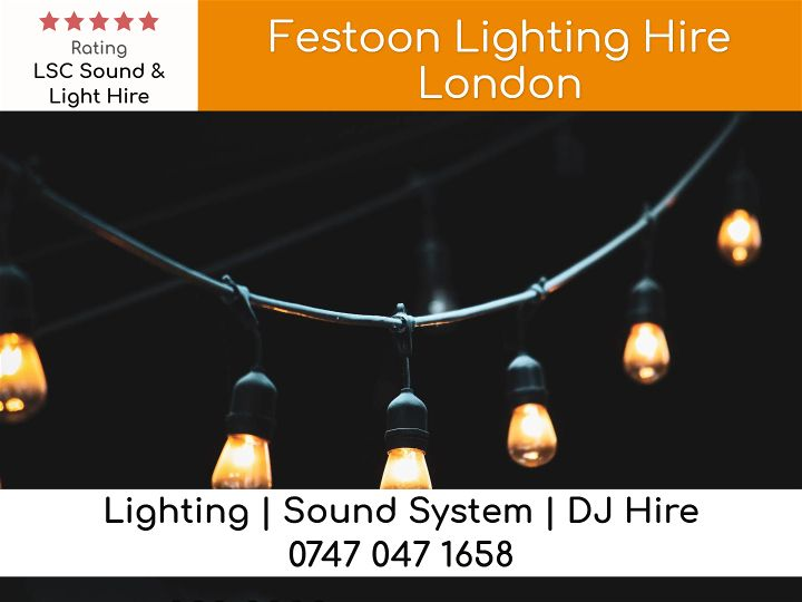 Festoon Lighting Hire Surrey UK - LSC Sound and Light Hire