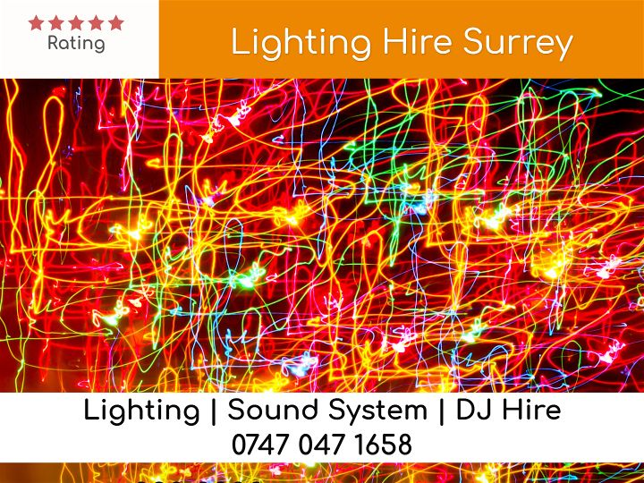 Lighting Hire Surrey - LSC Sound and Light Hire