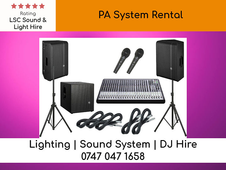 PA System Rental London- LSC Sound and Light Hire
