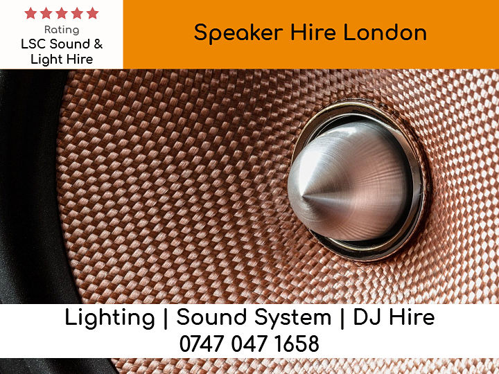 Speakers Hire in London - LSC Sound and Light Hire