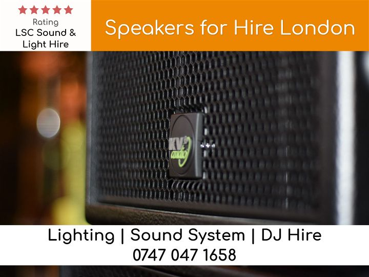 Speakers for Hire London - LSC Sound and Light Hire