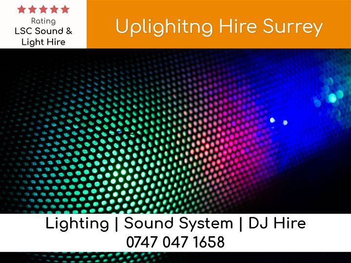 Uplighting Hire London UK - LSC Sound and Light Hire